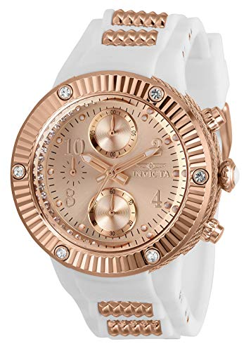 インヴィクタ インビクタ 腕時計 レディース 【送料無料】Invicta Angel Chronograph Quartz Crystal Rose Gold Dial Ladies Watch 29516インヴィクタ インビクタ 腕時計 レディース