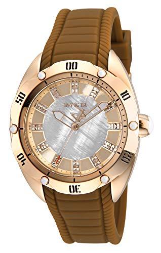 インヴィクタ インビクタ 腕時計 レディース 【送料無料】Invicta Women's Venom Stainless Steel Quartz Watch with Silicone Strap, Brown, 20 (Model: 29008)インヴィクタ インビクタ 腕時計 レディース