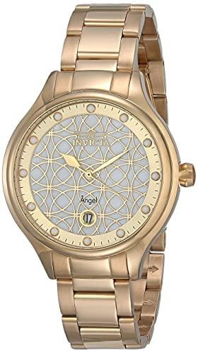 インヴィクタ インビクタ 腕時計 レディース 【送料無料】Invicta Women's Angel Quartz Watch with Stainless Steel Strap, Gold, 16 (Model: 27434)インヴィクタ インビクタ 腕時計 レディース