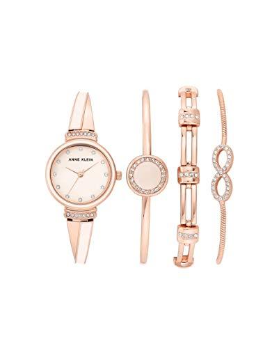 アンクライン 腕時計 レディース 【送料無料】Anne Klein Quartz Pink Dial Ladies Watch and Bracelet Set AK/3578BHSTアンクライン 腕時計 レディース