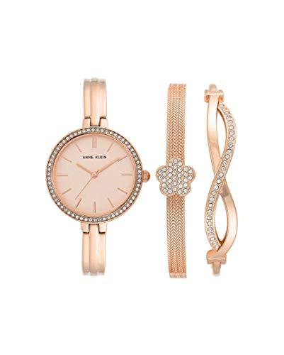腕時計 アンクライン レディース 【送料無料】Anne Klein Quartz Rose Dial Ladies Watch and Bracelet Set AK/3398RGST腕時計 アンクライン レディース