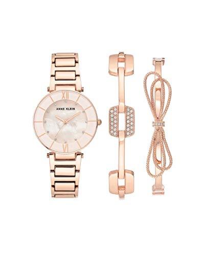 アンクライン 腕時計 レディース 【送料無料】Anne Klein Mother of Pearl Dial Ladies Watch and Bracelet Set AK/3366BHSTアンクライン 腕時計 レディース