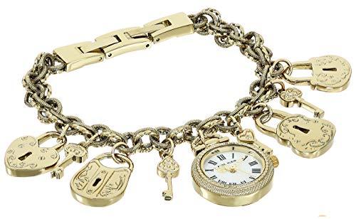 アンクライン 腕時計 レディース 【送料無料】Anne Klein Women's Gold-Tone Charm Bracelet Watch, AK/3460GPCHアンクライン 腕時計 レディース