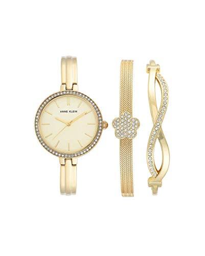 アンクライン 腕時計 レディース 【送料無料】Anne Klein Quartz Ladies Watch and Bracelet Set AK/3398GBSTアンクライン 腕時計 レディース