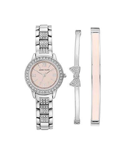 アンクライン 腕時計 レディース 【送料無料】Anne Klein Pink Dial Quartz Ladies Watch Set AK/3334LPSTアンクライン 腕時計 レディース