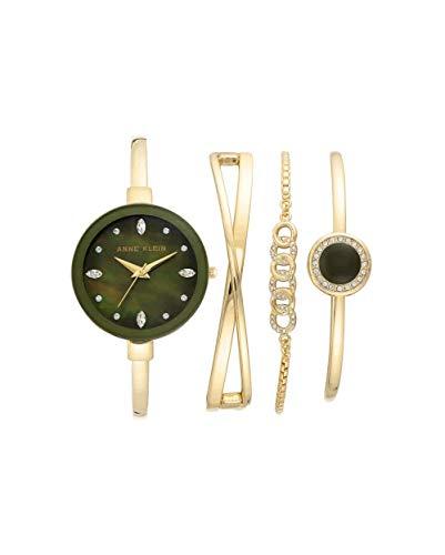 アンクライン 腕時計 レディース 【送料無料】Anne Klein Women's Swarovski Crystal Accented Watch and Bracelet Set, AK/3402アンクライン 腕時計 レディース