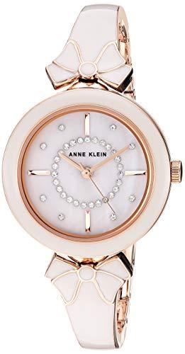 アンクライン 腕時計 レディース 【送料無料】Anne Klein Women's AK/3338GYRG Swarovski Crystal Accented Rose Gold-Tone and Light Grey Bangle Watchアンクライン 腕時計 レディース