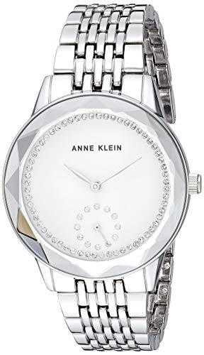 アンクライン 腕時計 レディース 【送料無料】Anne Klein Women's Swarovski Crystal Accented Silver-Tone Bracelet Watch, AK/3507SVSVアンクライン 腕時計 レディース
