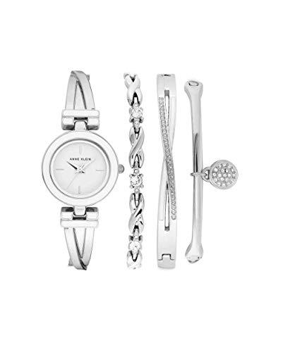 腕時計 アンクライン レディース 【送料無料】Anne Klein Quartz White Dial Ladies Watch and Bracelet Set AK/3576WTST腕時計 アンクライン レディース
