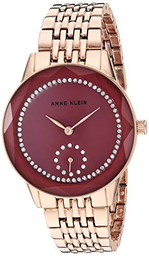 アンクライン 腕時計 レディース 【送料無料】Anne Klein Women's Swarovski Crystal Accented Rose Gold-Tone Bracelet Watch, AK/3506MVRGアンクライン 腕時計 レディース