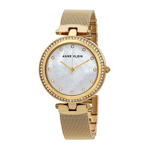 アンクライン 腕時計 レディース 【送料無料】Anne Klein Crystal Mother of Pearl Dial Ladies Watch 2972MPGBアンクライン 腕時計 レディース