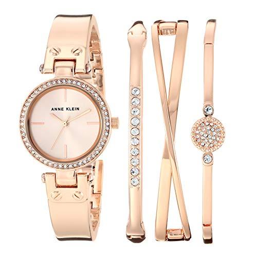 アンクライン 腕時計 レディース 【送料無料】Anne Klein Women's Swarovski Crystal Accented Rose Gold-Tone Watch and Bangle Set, AK/3368RGSTアンクライン 腕時計 レディース