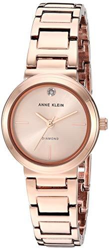 アンクライン 腕時計 レディース 【送料無料】Anne Klein Women's Genuine Diamond Dial Rose Gold-Tone Bracelet Watch, AK/3528RGRGアンクライン 腕時計 レディース