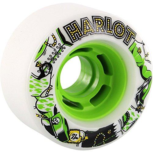 ウィール タイヤ スケボー スケートボード 海外モデル Venom Harlot Cobra Core 71mm 80a White/Green Longboard Wheels (Set of 4)ウィール タイヤ スケボー スケートボード 海外モデル