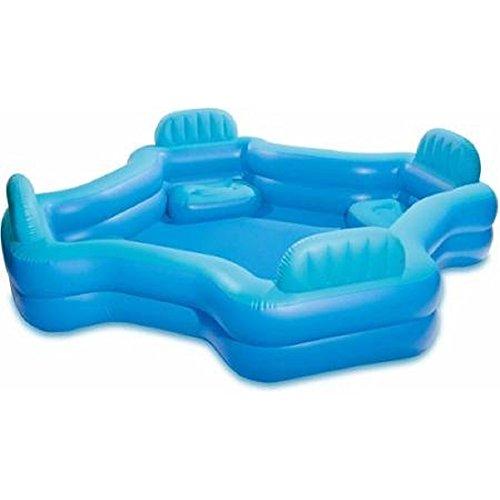 プール ビニールプール ファミリープール オーバルプール 家庭用プール Intex Relax And Keep Cool 57191WL Swim Center Family Lounge Pool, Holds 221 Gallons Water, Blueプール ビニールプール ファミリープール オーバルプール 家庭用プール