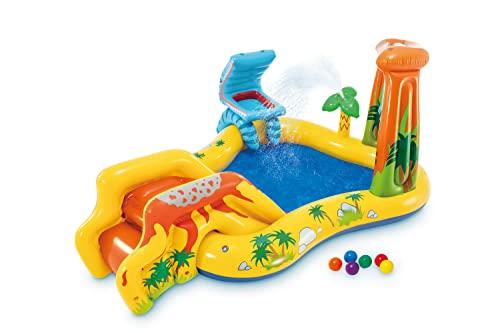 プール ビニールプール ファミリープール オーバルプール 家庭用プール 57444EP Intex Dinosaur Inflatable Play Center, 98in X 75in X 43in, for Ages 2+プール ビニールプール ファミリープール オーバルプール 家庭用プール 57444EP