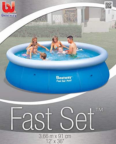 プール ビニールプール ファミリープール オーバルプール 家庭用プール 57278 Bestway 57278 US Fast Set Round Pool Set, 12-Feet by 36-Inchプール ビニールプール ファミリープール オーバルプール 家庭用プール 57278