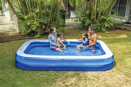 プール ビニールプール ファミリープール オーバルプール 家庭用プール 10291-2 Giant Inflatable Kiddie Pool - Family and Kids Inflatable Rectangular Pool - 10 Feet Long (120