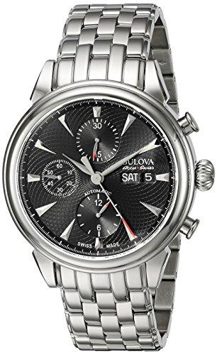 腕時計 ブローバ メンズ 63C113 【送料無料】Bulova Men's 'Gemini' Swiss Automatic Stainless Steel Casual Watch (Model: 63C113)腕時計 ブローバ メンズ 63C113