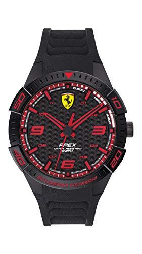 腕時計 フェラーリ メンズ 【送料無料】Ferrari Men's APEX Quartz Watch with Silicone Strap, Black, 20 (Model: 0830662)腕時計 フェラーリ メンズ