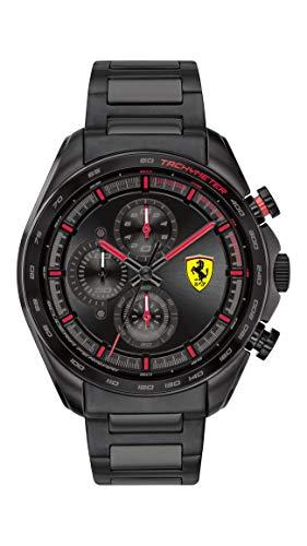 フェラーリ 腕時計 メンズ 【送料無料】Ferrari Men's SPEEDRACER Quartz Watch with Stainless Steel Strap, Black, 20 (Model: 0830654)フェラーリ 腕時計 メンズ