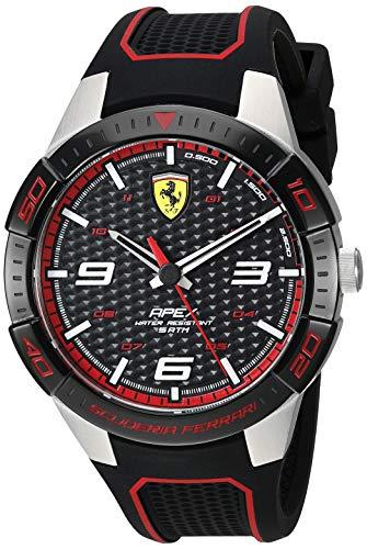 腕時計 フェラーリ メンズ 【送料無料】Ferrari Men's APEX Stainless Steel Quartz Watch with Silicone Strap, Black, 20 (Model: 0830630)腕時計 フェラーリ メンズ