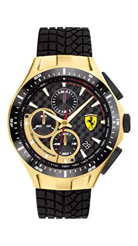 フェラーリ 腕時計 メンズ 【送料無料】Ferrari Men's Race Day Stainless Steel Quartz Watch with Silicone Strap, Black, 22 (Model: 0830700)フェラーリ 腕時計 メンズ