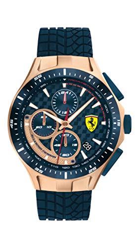 フェラーリ 腕時計 メンズ 【送料無料】Ferrari Men's Race Day Stainless Steel Quartz Watch with Silicone Strap, Blue, 22 (Model: 0830699)フェラーリ 腕時計 メンズ