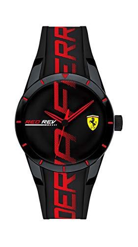 フェラーリ 腕時計 メンズ 【送料無料】Ferrari Men's Stainless Steel Quartz Watch with Silicone Strap, Black, 18 (Model: 0840026)フェラーリ 腕時計 メンズ