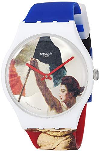 スウォッチ 腕時計 レディース 夏の腕時計特集 【送料無料】Swatch Louvre Special Quartz Silicone Strap, Blue, 20 Casual Watch (Model: SUOZ316)スウォッチ 腕時計 レディース 夏の腕時計特集