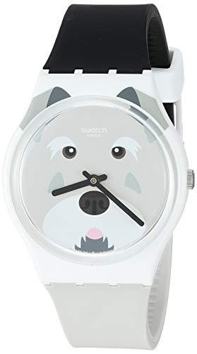スウォッチ 腕時計 レディース 夏の腕時計特集 【送料無料】Swatch I Love Your Folk Quartz Silicone Strap, Grey, 16 Casual Watch (Model: GW210)スウォッチ 腕時計 レディース 夏の腕時計特集