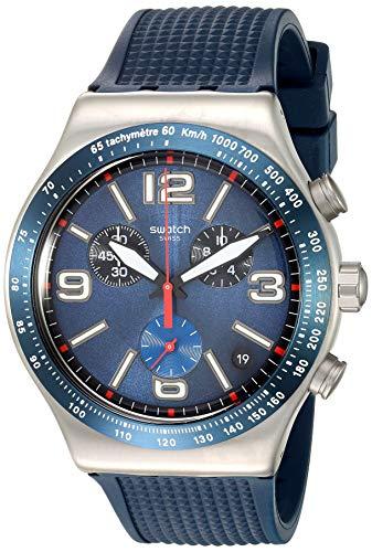 スウォッチ 腕時計 レディース 【送料無料】Swatch 1901 Irony Stainless Steel Quartz Rubber Strap, Blue, 21 Casual Watch (Model: YVS454)スウォッチ 腕時計 レディース