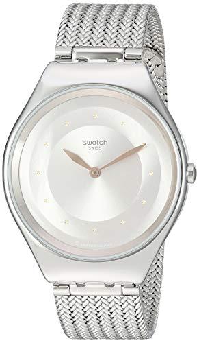 腕時計 スウォッチ レディース 夏の腕時計特集 【送料無料】Swatch Skin Irony Quartz Stainless Steel Strap, Grey, 16 Casual Watch (Model: SYXS117M)腕時計 スウォッチ レディース 夏の腕時計特集