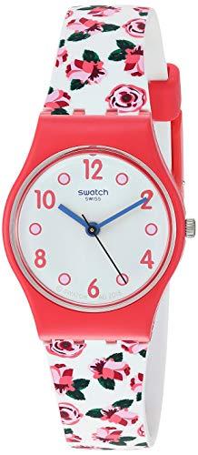 スウォッチ 腕時計 レディース 夏の腕時計特集 【送料無料】Swatch Women's I Love Your Folk Quartz Silicone Strap, White, 12 Casual Watch (Model: LP154)スウォッチ 腕時計 レディース 夏の腕時計特集