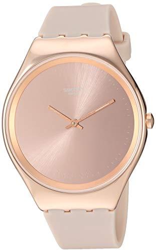 スウォッチ 腕時計 レディース 【送料無料】Swatch 1810 Skin Irony Stainless Steel Quartz Silicone Strap, Pink, 16 Casual Watch (Model: SYXG101)スウォッチ 腕時計 レディース