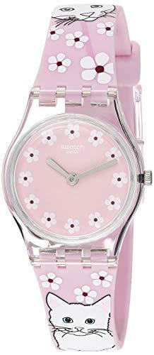 スウォッチ 腕時計 レディース 夏の腕時計特集 【送料無料】Swatch Women's I Love Your Folk Quartz Silicone Strap, Pink, 12 Casual Watch (Model: LP156)スウォッチ 腕時計 レディース 夏の腕時計特集