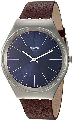 スウォッチ 腕時計 レディース 【送料無料】Swatch Skin Irony Stainless Steel Quartz Leather Strap, Brown, 16 Casual Watch (Model: SYXS106C)スウォッチ 腕時計 レディース