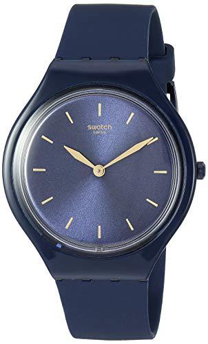 スウォッチ 腕時計 レディース 【送料無料】Swatch Skin Quartz Silicone Strap, Blue, 16 Casual Watch (Model: SVON104)スウォッチ 腕時計 レディース