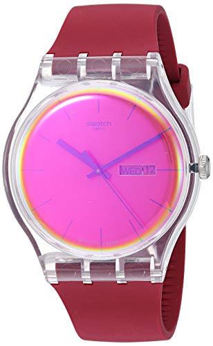 スウォッチ 腕時計 レディース 夏の腕時計特集 【送料無料】Swatch Transformation Quartz Silicone Strap, Red, 20 Casual Watch (Model: SUOK717)スウォッチ 腕時計 レディース 夏の腕時計特集