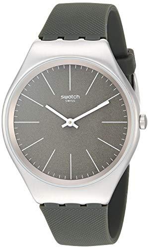 スウォッチ 腕時計 レディース 【送料無料】Swatch Skin Irony Stainless Steel Quartz Silicone Strap, Green, 17 Casual Watch (Model: SYXS116)スウォッチ 腕時計 レディース