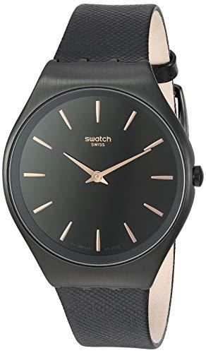 スウォッチ 腕時計 レディース 【送料無料】Swatch Skin Irony Stainless Steel Quartz Leather Strap, Black, 16 Casual Watch (Model: SYXB101)スウォッチ 腕時計 レディース
