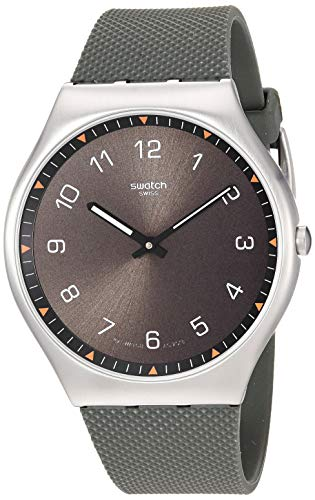 スウォッチ 腕時計 レディース 【送料無料】Swatch Skin Irony 42 Stainless Steel Quartz Rubber Strap, Green, 20 Casual Watch (Model: SS07S103)スウォッチ 腕時計 レディース