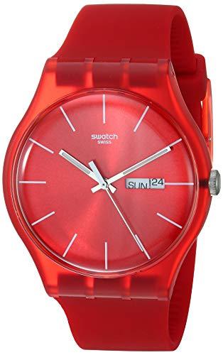 スウォッチ 腕時計 メンズ 【送料無料】Swatch Men's SUOR701 Quartz Red Day And Date Plastic Watchスウォッチ 腕時計 メンズ