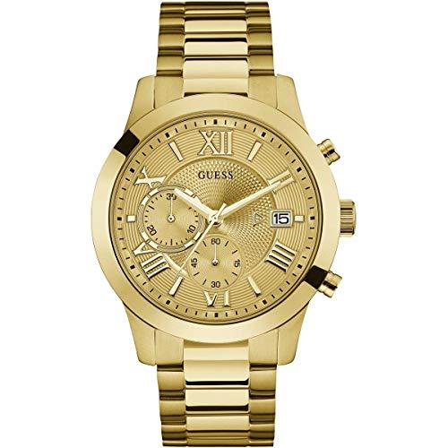 ゲス GUESS 腕時計 メンズ 【送料無料】Guess Classic Chronograph Gold Dial Men's Watch W0668G4ゲス GUESS 腕時計 メンズ