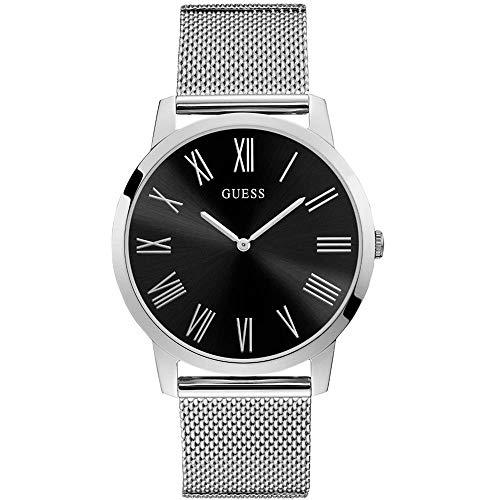 ゲス GUESS 腕時計 レディース 【送料無料】GUESS Men's 44mm Steel Bracelet & Case Quartz Black Dial Analog Watch W1263G1ゲス GUESS 腕時計 レディース