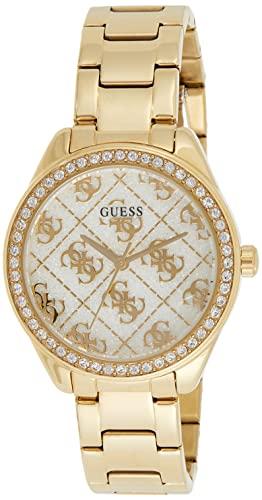 ゲス GUESS 腕時計 レディース 【送料無料】GUESS Women's Analog Watch with Stainless Steel Strap, Gold, 16 (Model: GW0001L2)ゲス GUESS 腕時計 レディース