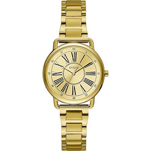 腕時計 ゲス GUESS レディース 【送料無料】Guess Jackie Quartz Gold Dial Yellow Gold-Tone Ladies Watch W1148L2腕時計 ゲス GUESS レディース