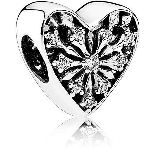 パンドラ ブレスレット アクセサリー ブランド かわいい 【送料無料】Pandora Frosted Heart of Winter Charm - Clear Cubic Zirconia 791996CZパンドラ ブレスレット アクセサリー ブランド かわいい