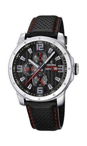 フェスティナ フェスティーナ スイス 腕時計 メンズ F16585/8 Men's Watch Festina F16585/8 Leather Band Black Dialフェスティナ フェスティーナ スイス 腕時計 メンズ F16585/8