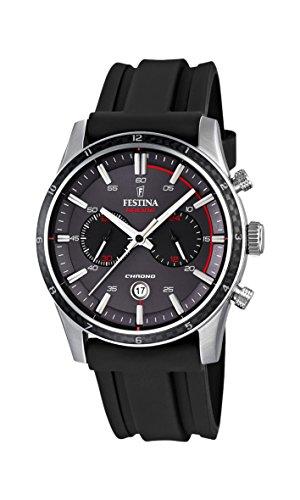 フェスティナ フェスティーナ スイス 腕時計 メンズ F16874/H Festina F16874-H Mens Tour of Britain 2015 Grey Black Chronograph Watchフェスティナ フェスティーナ スイス 腕時計 メンズ F16874/H